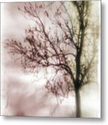 Abstract Fall Trees Metal Print