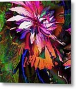 Abstract Flower Metal Print
