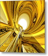 Abstract Gold Rings Metal Print