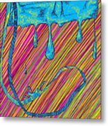 Abstract Handbag Drips Color Metal Print