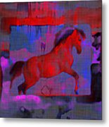 Abstract Horse Metal Print