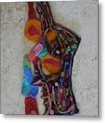 Abstract In Wool A Metal Print by Heather Hennick
