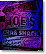 Abstract Joe's Crabshack Sign Metal Print