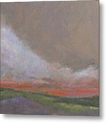 Abstract Landscape - Scarlet Light Metal Print
