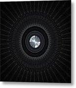 Abstract Lens Metal Print
