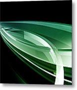 Abstract Lines, Leaf Shape Metal Print