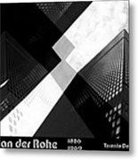 Abstract Mies Metal Print