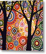 Abstract Modern Tree Landscape Distant Worlds By Amy Giacomelli Metal Print