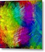 Abstract Multi Colors Metal Print
