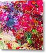 Abstract Multi Floral Metal Print