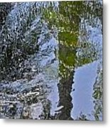 Abstract Palm Reflections Metal Print