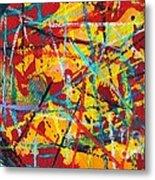 Abstract Pizza 1 Metal Print