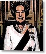 Abstract Portrait Of A Queen Metal Print