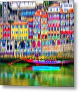 abstract Portuguese city Porto-3 Metal Print