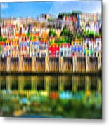 abstract Portuguese city Porto-5 Metal Print