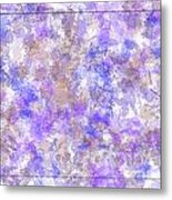 Abstract Purple Splatters Metal Print