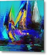 Abstract Regatta Metal Print