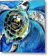 Abstract Sea Turtle In C Minor Metal Print