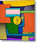 Abstract Shapes Color One Metal Print