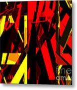 Abstract Sine L 20 Metal Print
