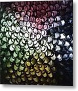 Abstract Straws Metal Print