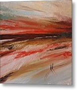 Abstract Sunset II Metal Print