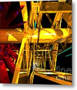 Abstract Tan 12 Imaginary Engine Metal Print