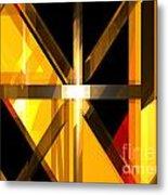 Abstract Tan 3 Metal Print