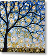Abstract Tree Nature Original Painting Starry Starry By Amy Giacomelli Metal Print