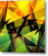 Abstract Triangle Colorful Background Metal Print