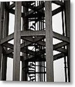 Abstract Water Tower Metal Print