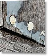 Abstract With Blue Metal Print