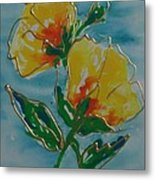 Abstract Yellow Flower No3 Metal Print