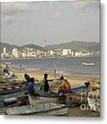 Acapulco Fishermen Metal Print