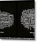 Acceptance Speeches Metal Print