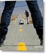 Accident Scene Photographer Metal Print