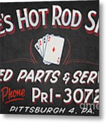 Ace's Hot Rod Shop Metal Print by Clarence Holmes