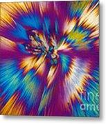 Acetaminophen Crystals Tem Metal Print