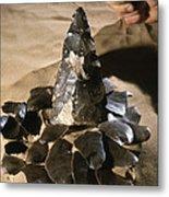 Acheulean Stone Tool Metal Print