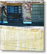 Across The Alley Metal Print