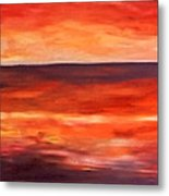 Across The Bay Metal Print by Peter Edward Green