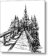 Across The Bridge Metal Print