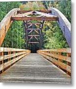 Across The Bridge Metal Print