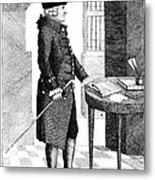 Adam Smith, Scottish Philosopher & Metal Print