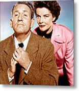 Adams Rib, From Left Spencer Tracy Metal Print