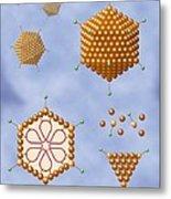 Adenovirus Structure, Artwork Metal Print