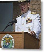 Admiral Mike Mullen Speaks Metal Print by Michael Wood