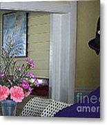Admiring The Southernmost Flowers Metal Print