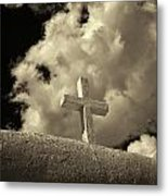 Adobe And Cross Metal Print