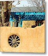 Adobe Wall Wheel Metal Print